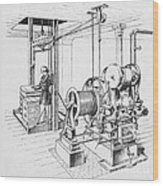 Double Oscillating Steam Engine Wood Print