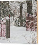 Double Red Iron Gates Wood Print