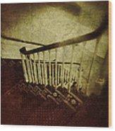 Down A Staircase Wood Print
