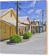 Down On Main Street Wood Print
