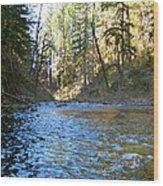 Downstream Wood Print