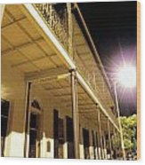Downtown Balcony Baton Rouge Wood Print