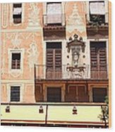 Downtown Barcelona Wood Print