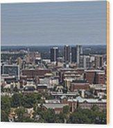 Downtown Birmingham Alabama Wood Print