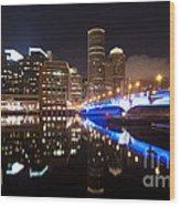 Downtown Boston Wood Print