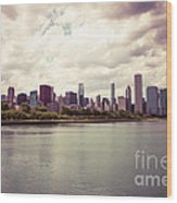 Downtown Chicago Skyline Lakefront Wood Print