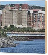 Downtown Duluth Wood Print