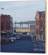Downtown Eastport Maine Wood Print by Geri Harkin-Tuckett