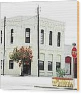Downtown Flouresville Texas Wood Print