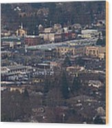 Downtown Grants Pass Sunday Morning Wood Print