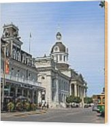 Downtown Kingston Wood Print
