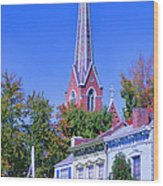 Downtown Madison II Wood Print