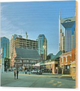 Downtown Nashville IIi Wood Print by Steven Ainsworth