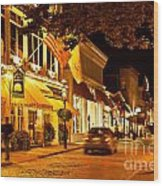 Downtown Newport Wood Print