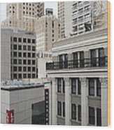 Downtown San Francisco Buildings - 5d19323 Wood Print by Wingsdomain Art and Photography