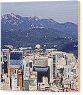Downtown Seoul Skyline Wood Print by Jeremy Woodhouse