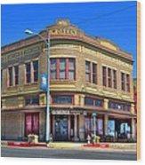 Downtown Shiner Texas Wood Print