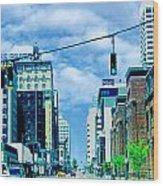 Downtown Union Ave Memphis Tn Wood Print