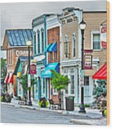 Downtown Waterville Wood Print