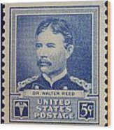 Dr Walter Reed Postage Stamp Wood Print