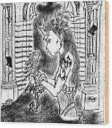 Dragon And The Dame Wood Print