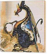 Dragon At Work Wood Print