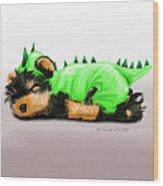 Dragon Baby Yorkie Wood Print