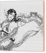 Dragon Dancer Wood Print