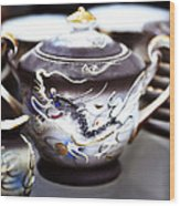 Dragon Satsuma Bowl Wood Print