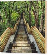 Dragon Steps Wood Print