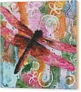 Dragonfly Fairy I Wood Print