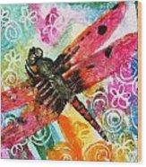 Dragonfly Fairy II Wood Print