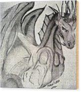 Dragonheart - Bw Wood Print