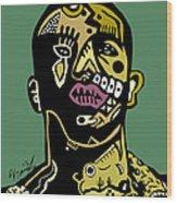 Drake Full Color Wood Print