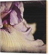 Drama In Purple Wood Print