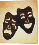 Drama Wood Print by Tony Cordoza