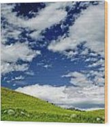 Dramatic Big Sky Wood Print