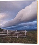 Dramatic Cloud Formations Wood Print