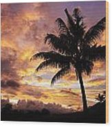 Dramatic Fiji Sunrise Wood Print