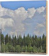 Dramatic Sky Marshall Lake Wood Print