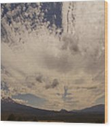 Dramatic Sky Over Mount Shasta Wood Print