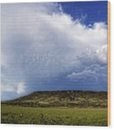 Dramatic Storm Over Table Rock Wood Print