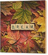 Dream-autumn Wood Print