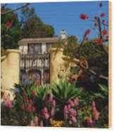 Dream Cottage In Malibu Wood Print