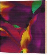 Dream Gardens - Tulip Petals - Shimmering Brights Wood Print