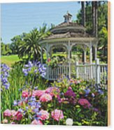 Dream Gazebo Wood Print