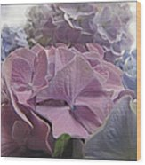 Dream Hydrangeas Wood Print