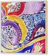 Dreaming In Watercolors Wood Print