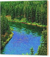 Dreamriver Wood Print