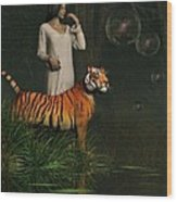 Dreams Of Tigers And Bubbles Wood Print